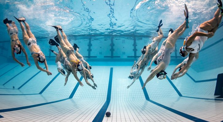 "There is an underwater version of rugby, unsurprisingly called ""underwater rugby""."