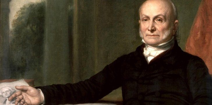 John Quincy Adams observed the Battle of Bunker Hill