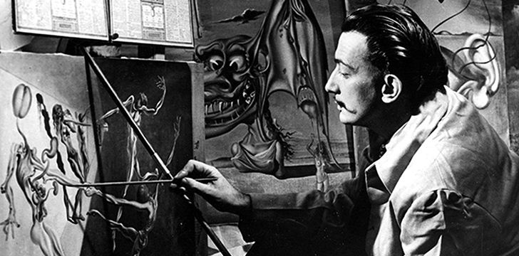 Salvador Dalí was expelled from the same art school not once, but twice.