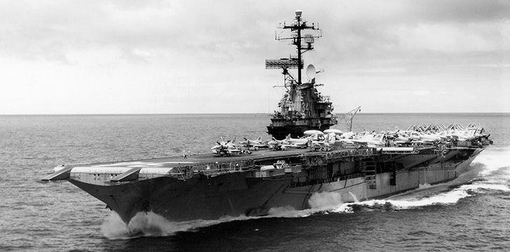 The USS Oriskany in it's glory days