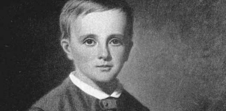 Isaac Newton as a child