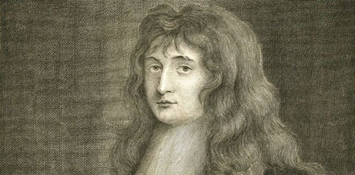 A drawing of Isaac Newton
