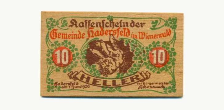 Notgeld Wooden Notes