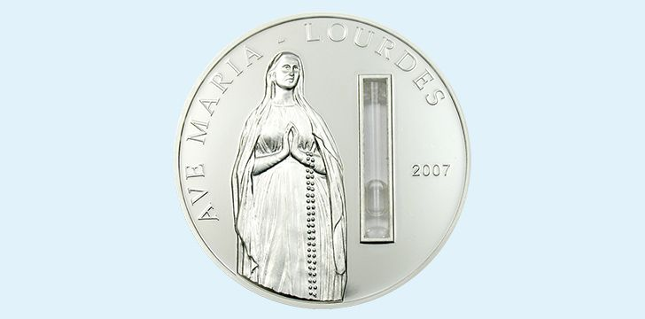 Palau Holy Water, Virgin Mary Coin