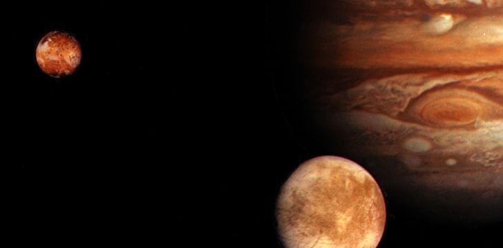Moons orbiting Jupiter