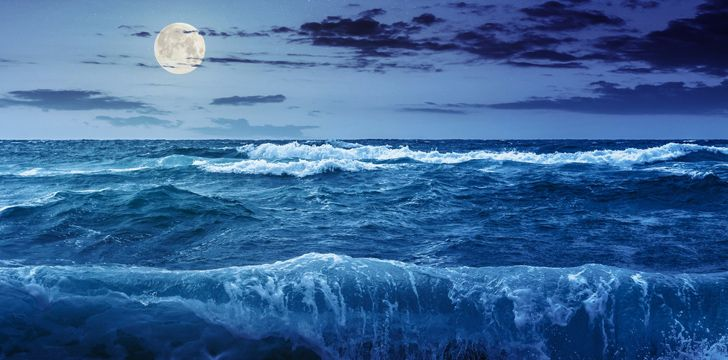 The Moon controls our tides