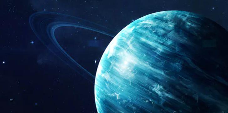 Uranus' blue glow