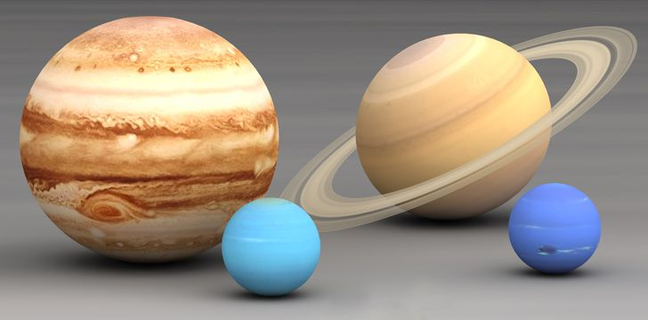 The four gas giants