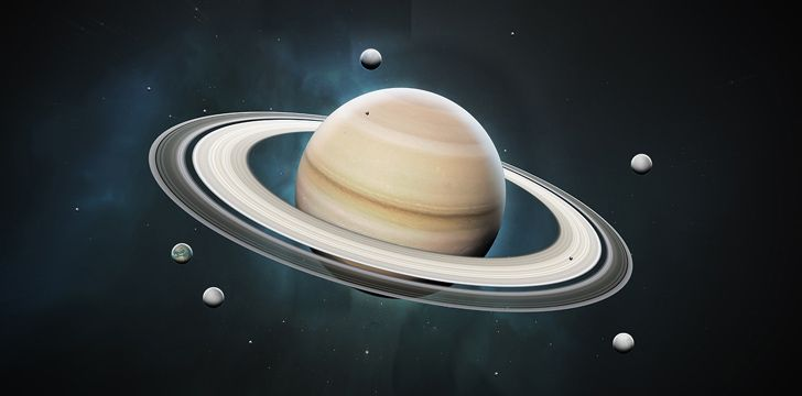 Saturn is the second largest planet