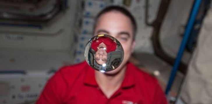 Liquid in space