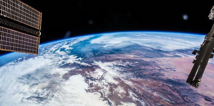 ISS Orbiting Earth