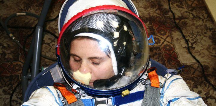 Velcro patch in Astronauts Helmet