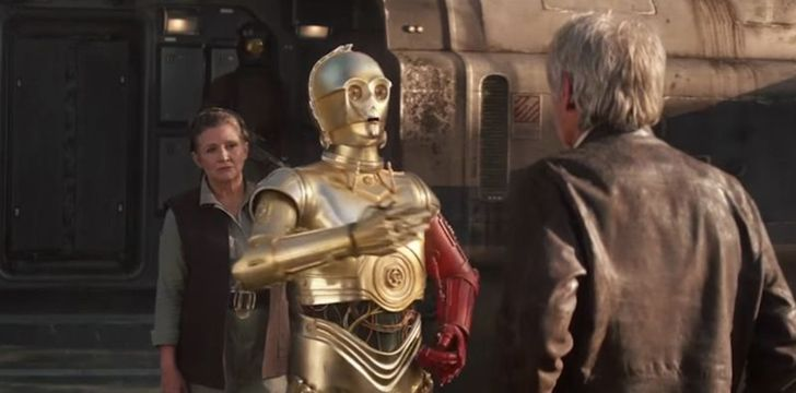 C-3PO's red arm was a tribute to a droid friend who sacrificed himself.