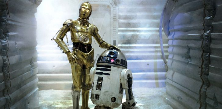 R2-D2 and C-3PO were inspired by comic duo Laurel and Hardy.