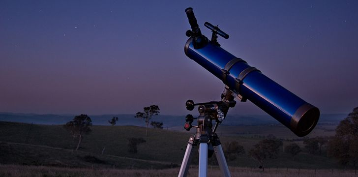 Telescope looking into space