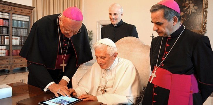 According to the Vatican, you're a better person if you follow the Pope on Twitter.