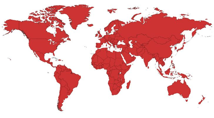 Coca-Cola is unofficially available in every country in the world.