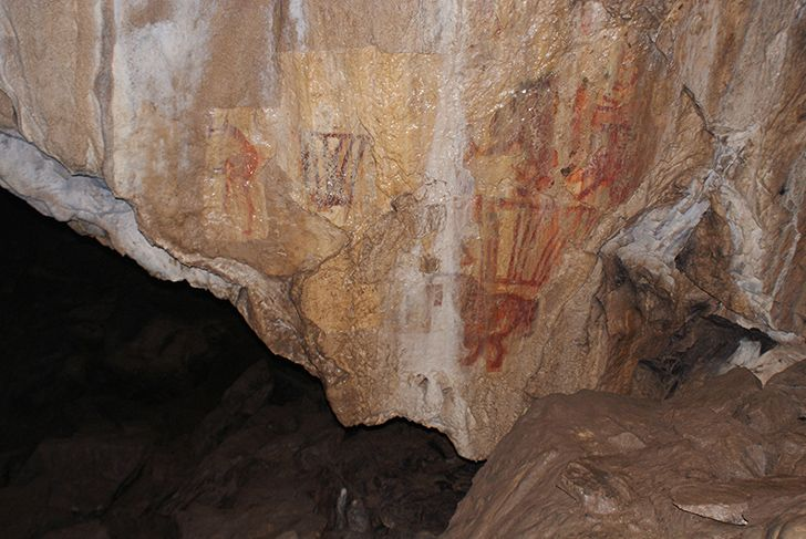 The first known artworks date back to roughly 100,000 years ago.