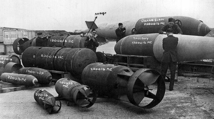 Germany uncover 2,000 tons of unexploded bombs every year.