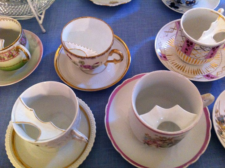 In the Victorian era, men with moustaches used special cups.