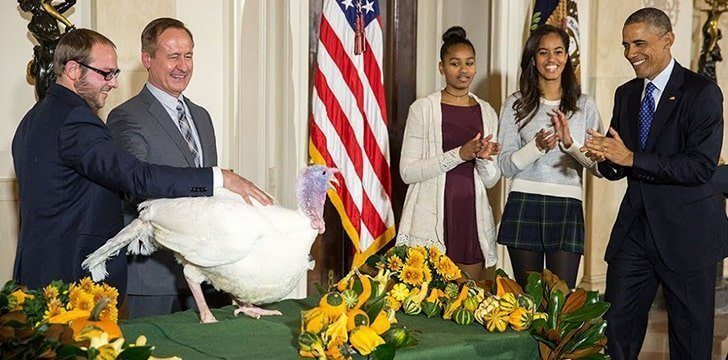 There's a tradition of pardoning a turkey.