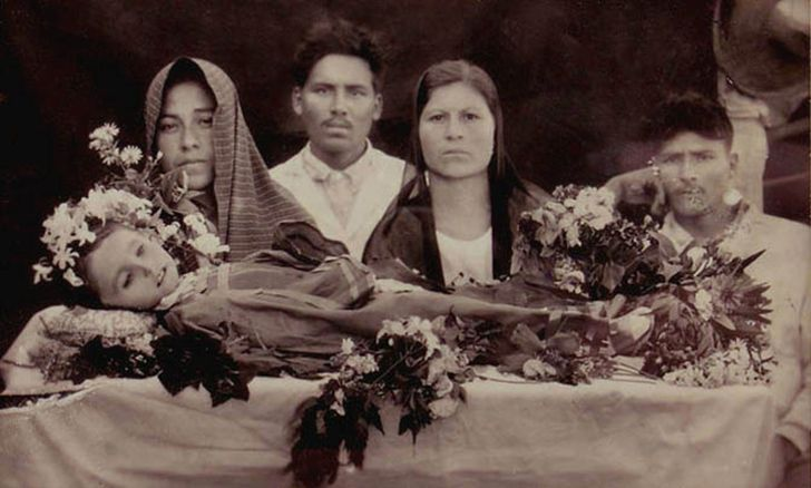 During the Victorian period, it was normal to photograph relatives after they died.