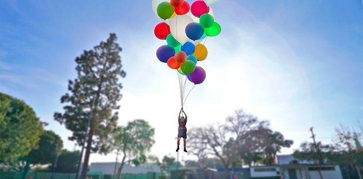 How Many Balloons Does It Take To Float A Human?
