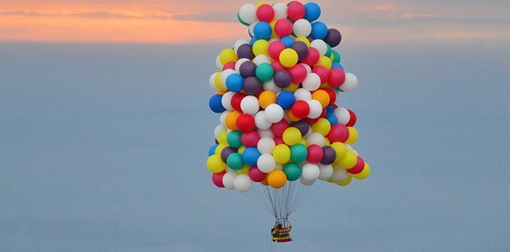 How many balloons would it take to float?