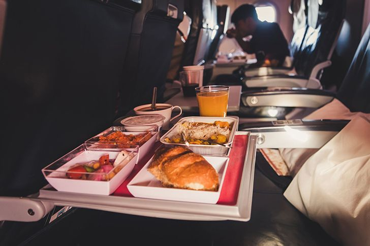 Food tastes different when you're flying.