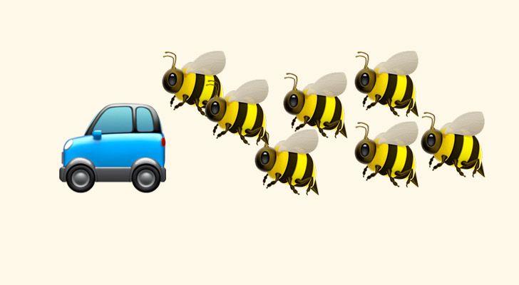 20.000 arı sürüsü, kraliçeleri içeride sıkışıp kaldığı için iki gün boyunca bir arabayı takip etti.