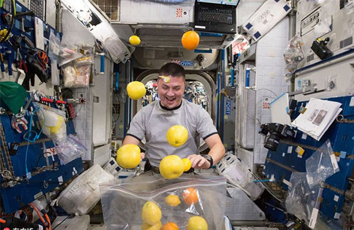Astronauts ate food grown in space for the first time in 2015.