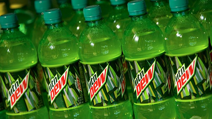 Mountain Dew contains orange juice.