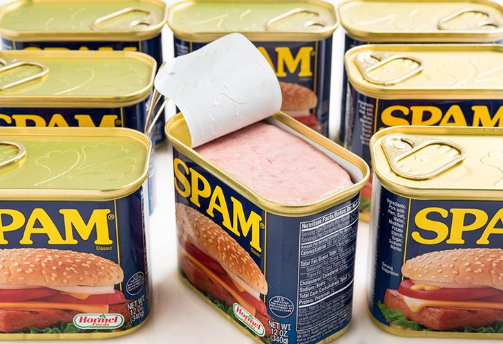 Which came first, Spam mail or Spam meat?