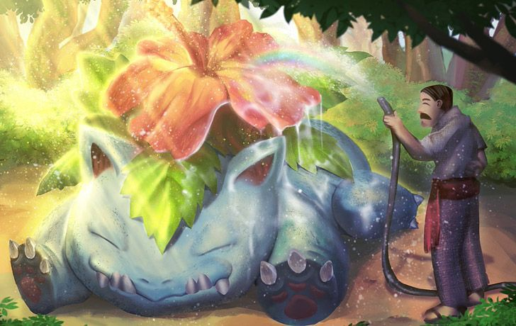 Venusaur's flower gets brighter the more sunlight it absorbs.
