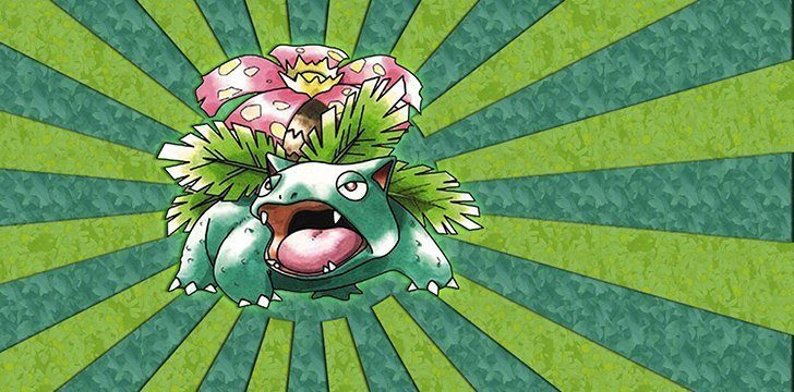Venusaur is the Mascot for two Pokémon games.