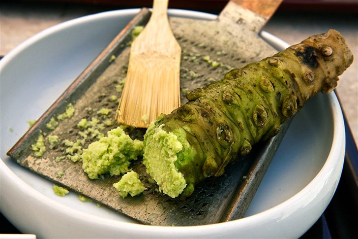 Most supermarket wasabi is actually horseradish.