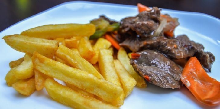 Kangaroo steaks and chunky French fries