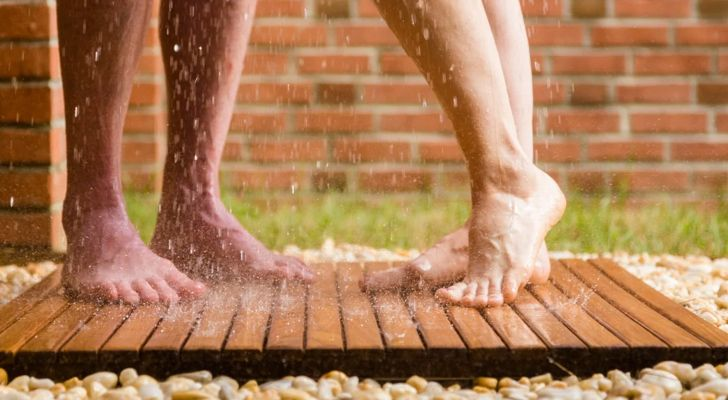 Showering With A Friend Outdoors