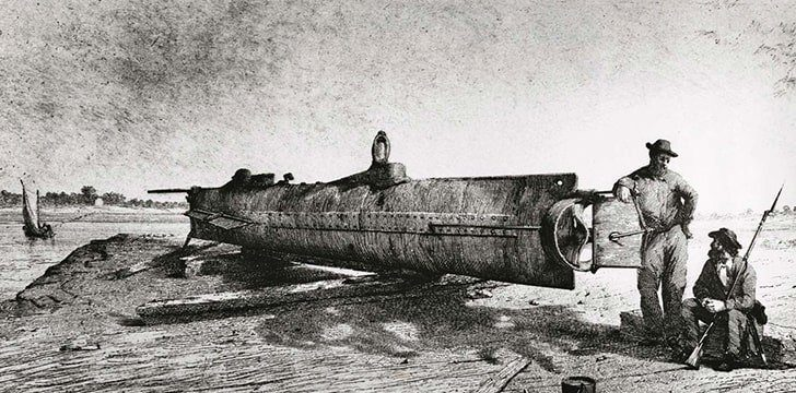 The first ever submarine to sink an enemy ship was constructed by Confederates in Alabama.