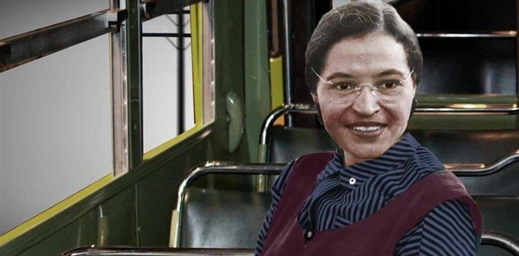 Rosa Parks started a civil rights movement by refusing to give up her seat to a white man.