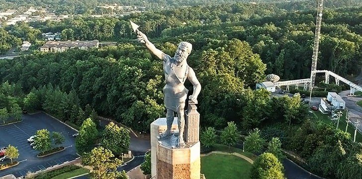Alabama is home to the largest cast-iron statue in the world.
