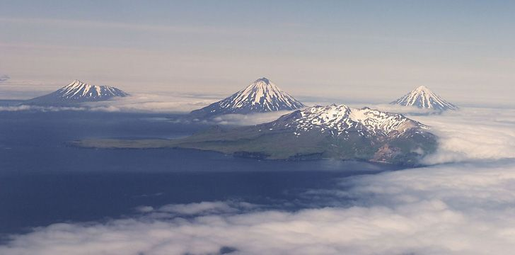 There are more than 130 active volcanoes in Alaska.
