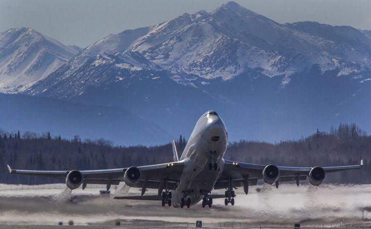 The fourth busiest air-freight airport in the world is in Anchorage, Alaska.