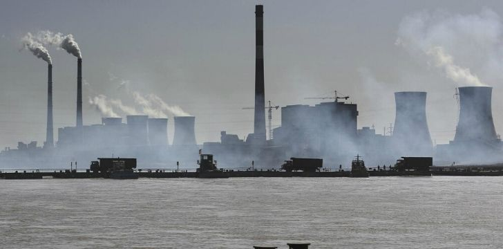 Smog coming from factories in China