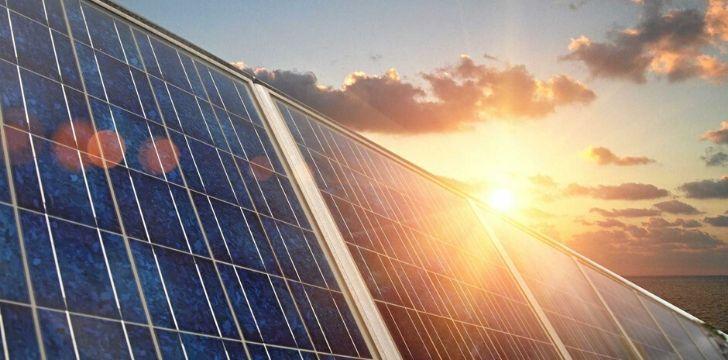 Solar panels absorbing the sun's energy