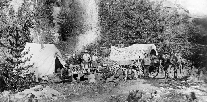 1849 Gold Rush at Pike's Peak in Colorado