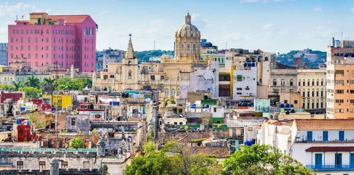 A skyline image showing the colourful Havana.