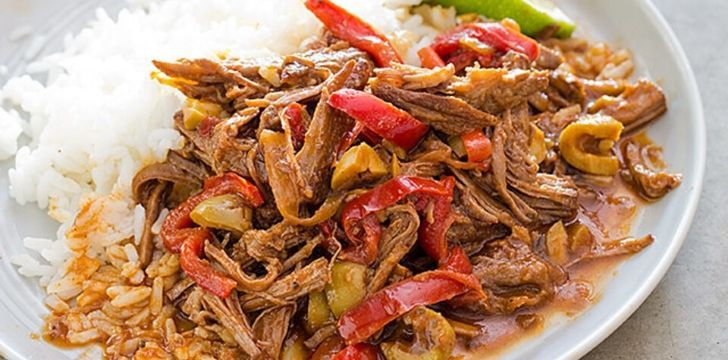 Ropa Vieja dish is a staple in Cuba.