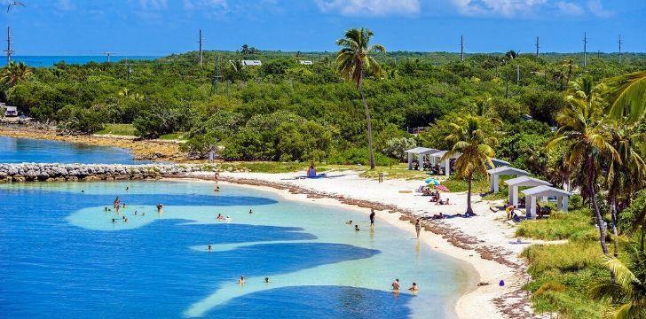Exotic beach in Florida