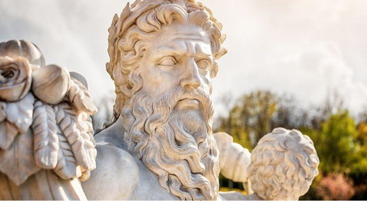 A statue of Zeus